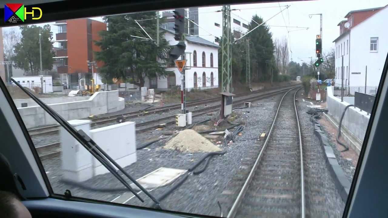 Führerstandsmitfahrt auf der S3 – Bad Soden über Frankfurt nach Darmstadt [HD]