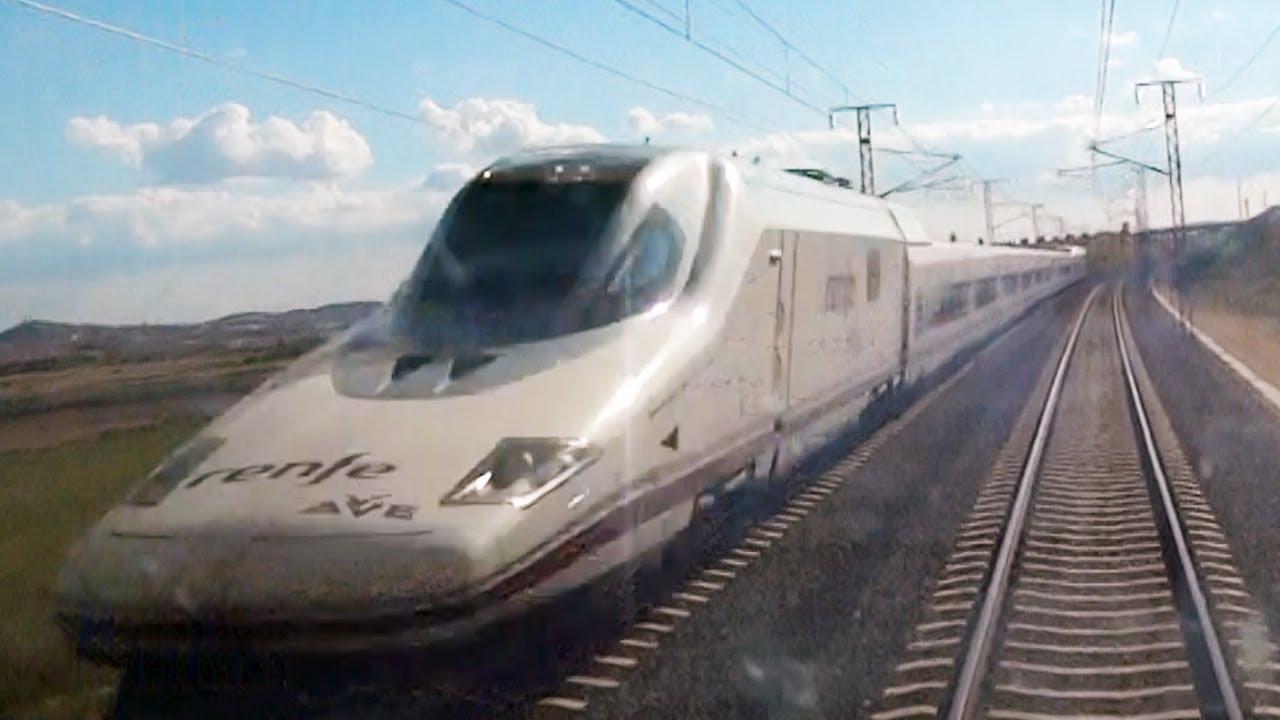 Rail View – Tren AVE directo de Barcelona a Madrid – Trayecto completo – 2013