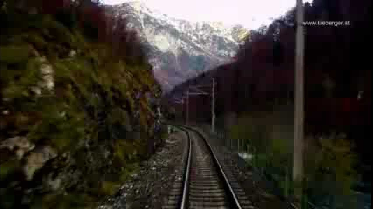 Salzkammergutbahn – anfangs nächtliche Führerstandsmitfahrt von Attnang nach Stainach-Irdning