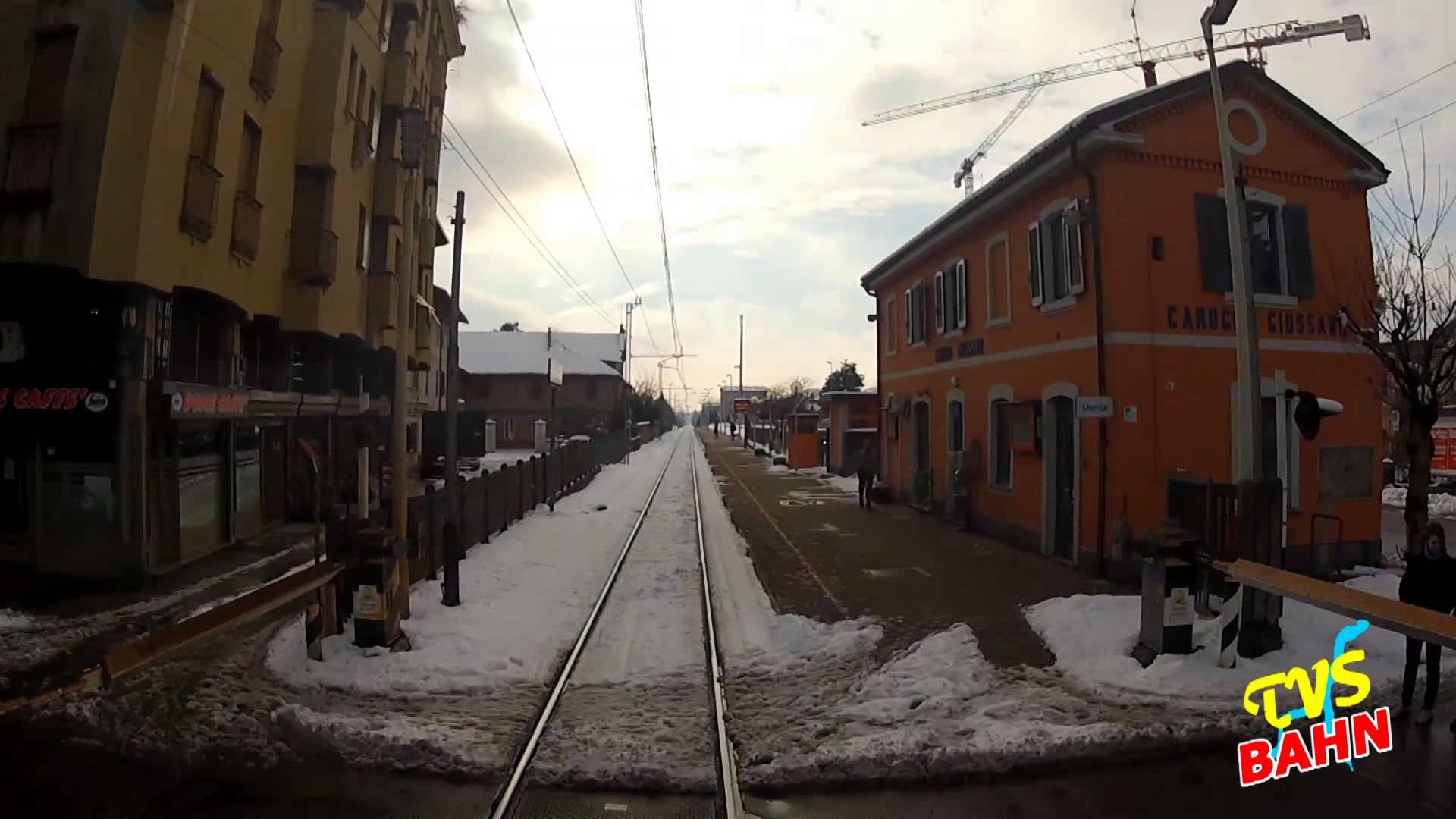 TRENORD CAB RIDE – Linea Asso Milano sotto la neve / unter Schnee – febbraio 2013