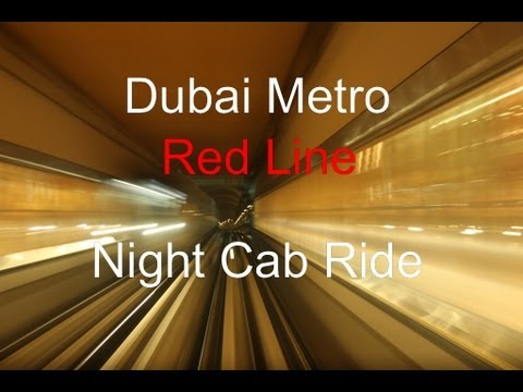 Dubai Metro – Night Cab Ride on the Red Line + Metro Station impressions