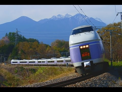 """【Full HD】スーパーあずさ E351系 新宿-松本 車窓 Ltd.EXP """"Super Azusa"""" Series E351"""