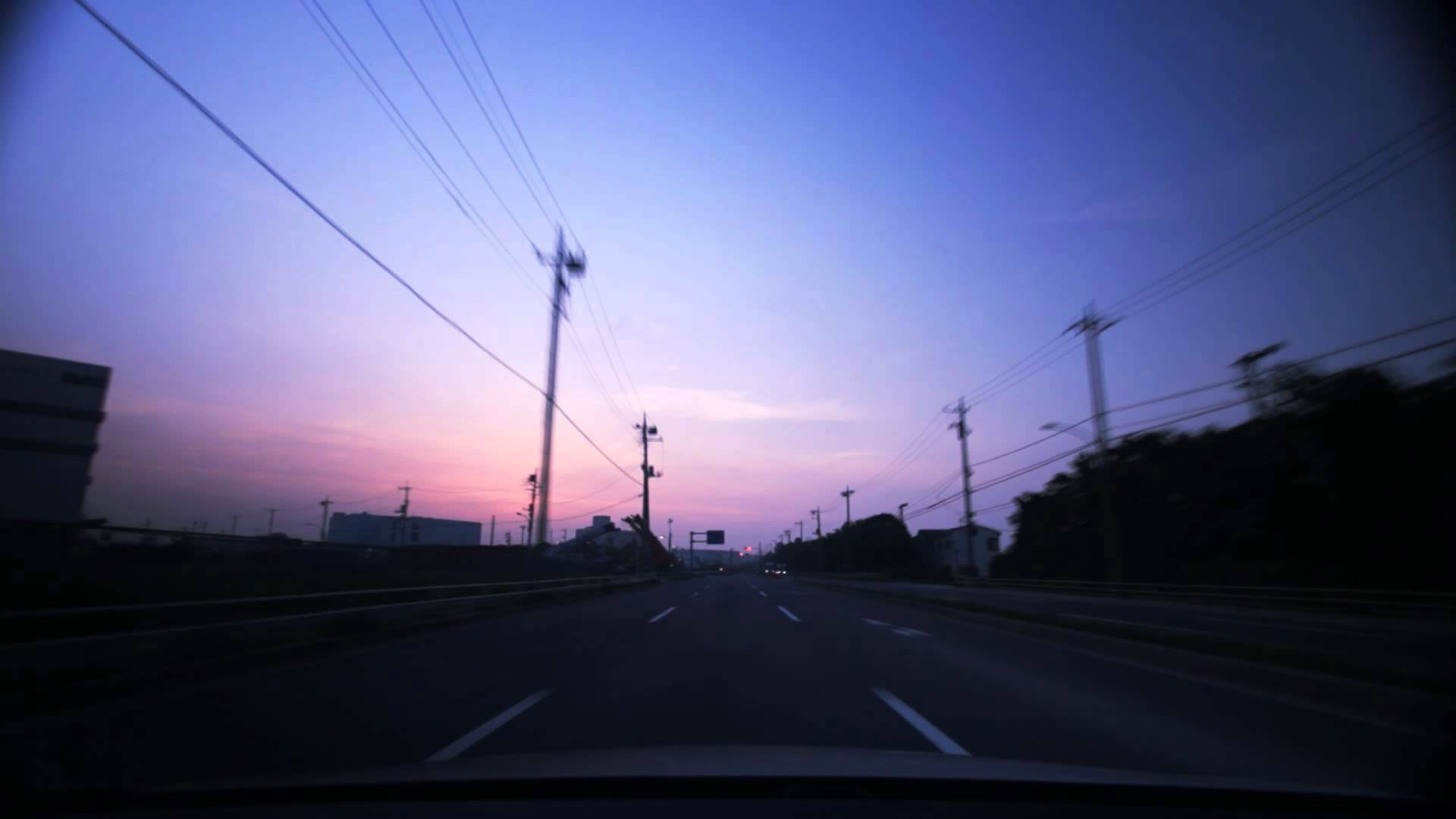 (HD) Morning drive in Tokyo 12 -早朝の羽田空港周辺ドライブ (SKETCH ver.)-
