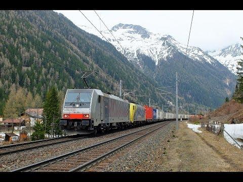 Komplette Führerstandsmitfahrt Tauernbahn von Salzburg Hbf bis Tarvisio Boscoverde mit Baureihe 186