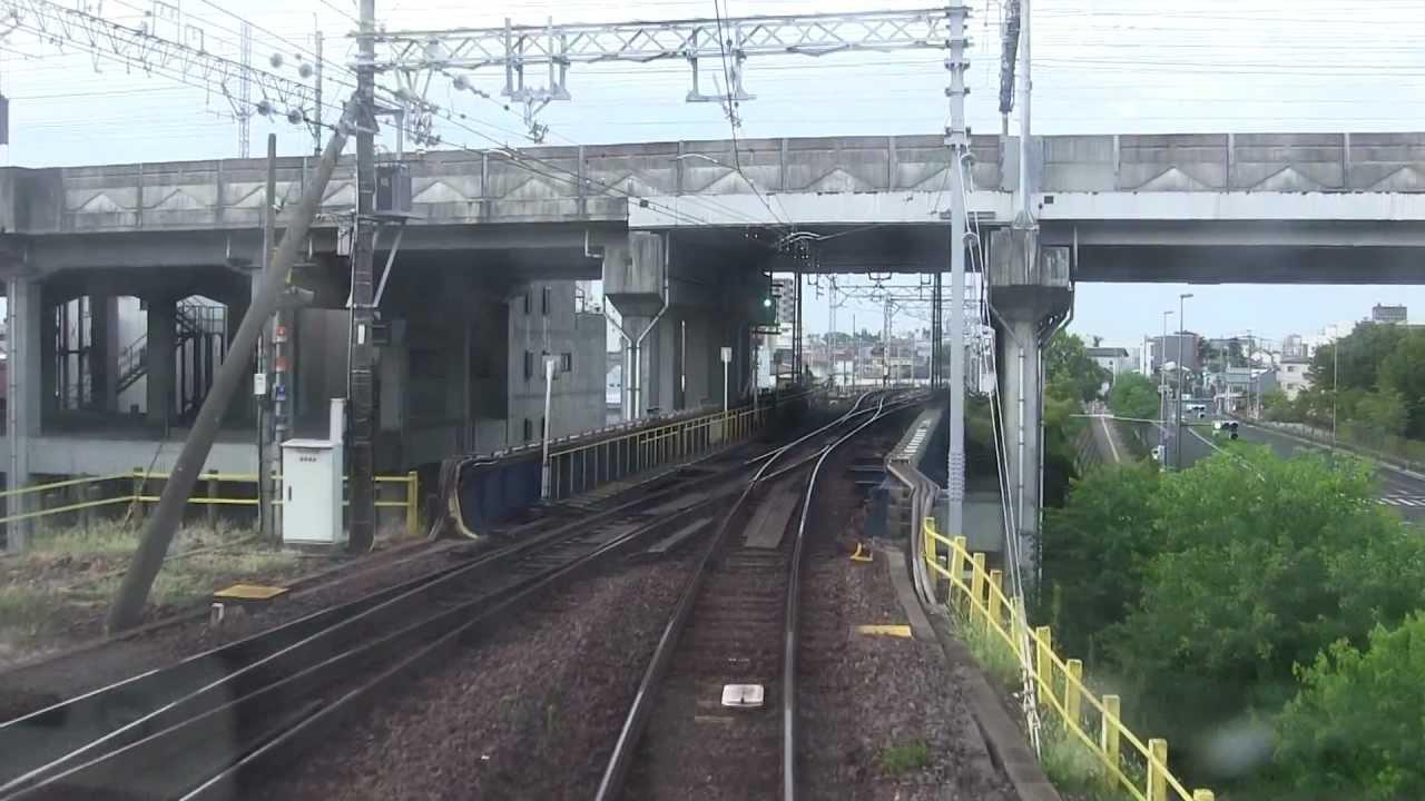 名鉄1000系(1013F)前面展望 名鉄岐阜→豊橋(ノーカット