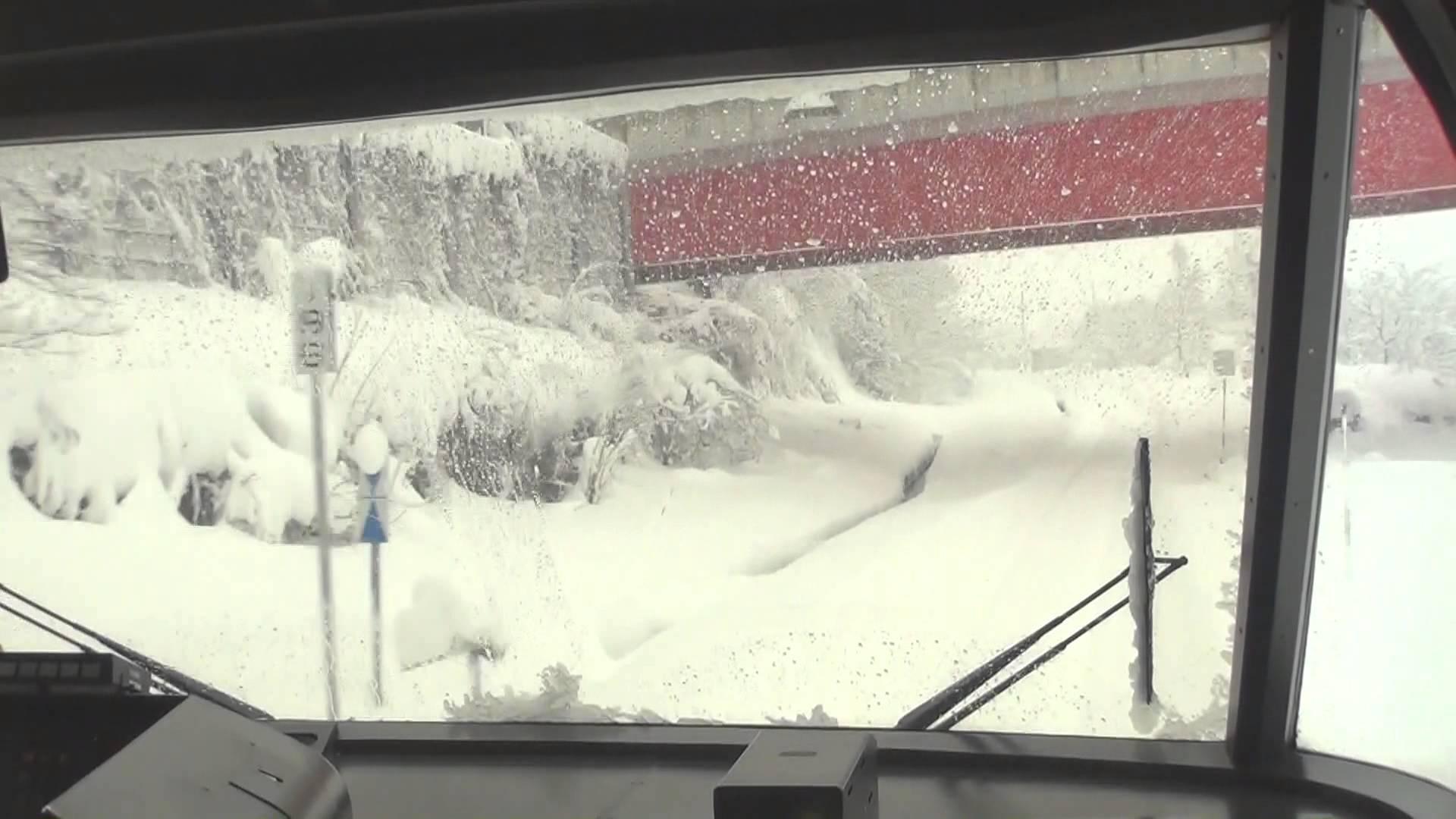 ワイドビューひだ3号 真冬の前面展望 高山→富山 2013/1
