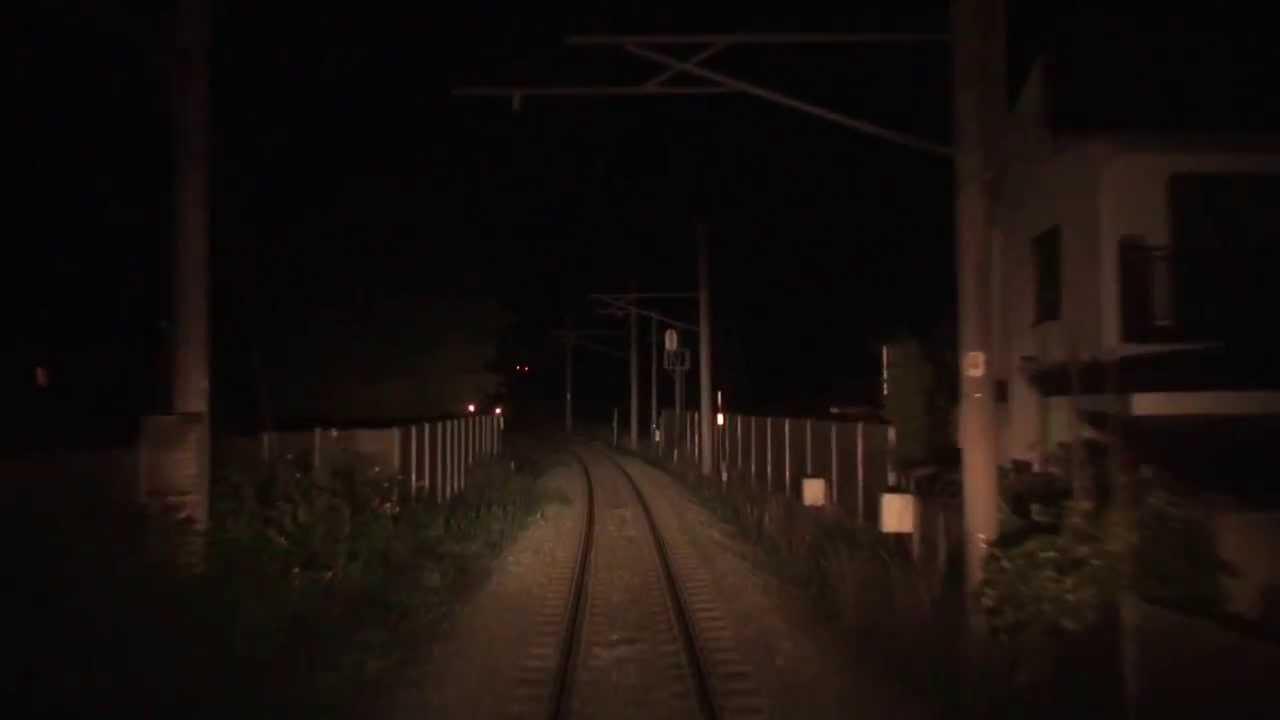 【前面展望】スーパー白鳥 函館→青森 夜間展望動画