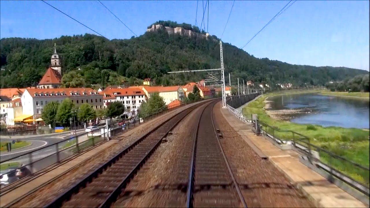 "Cabview Führerstandsmitfahrt 371 003-5 EC 176 ""Johannes Brahms"" Praha – Dresden"