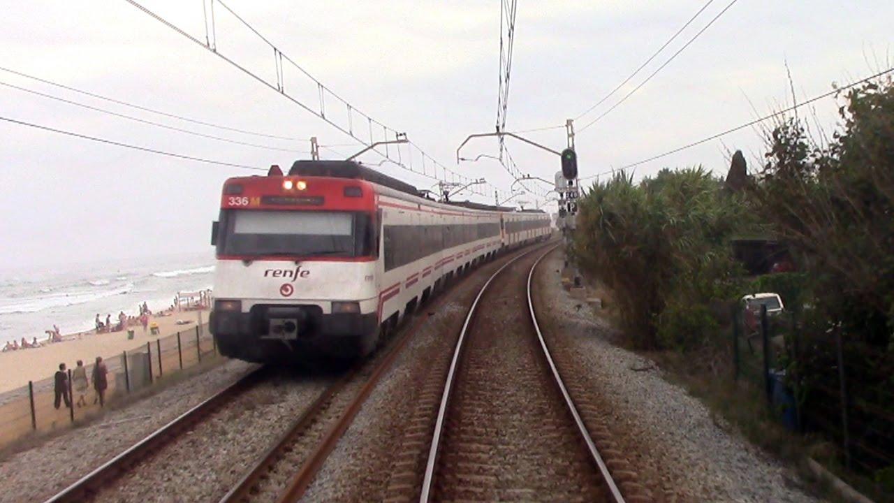 Rail View Tren Rodalies R1 de Blanes a L'Hospitalet 2014