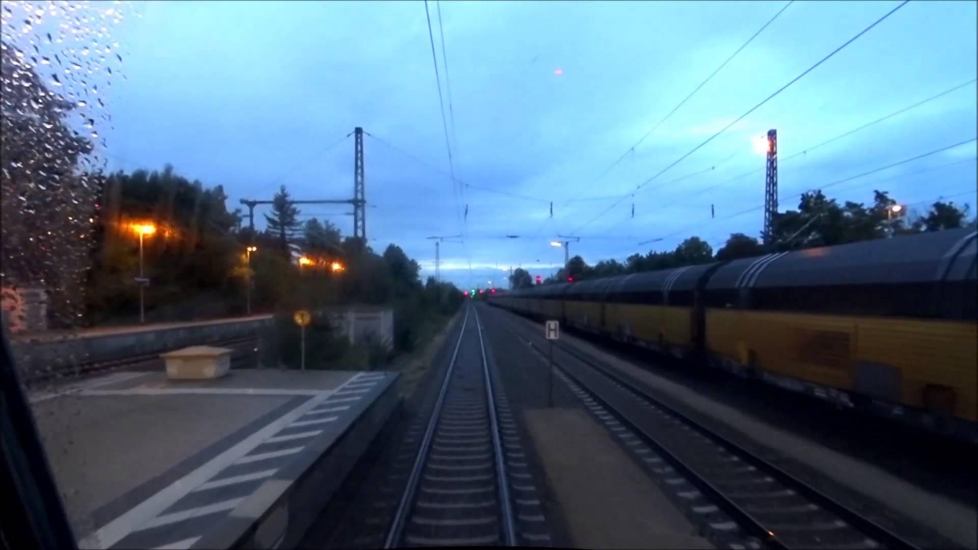 Führerstandsmitfahrt BR111 München – Freising am 31.08.2014 im Regen