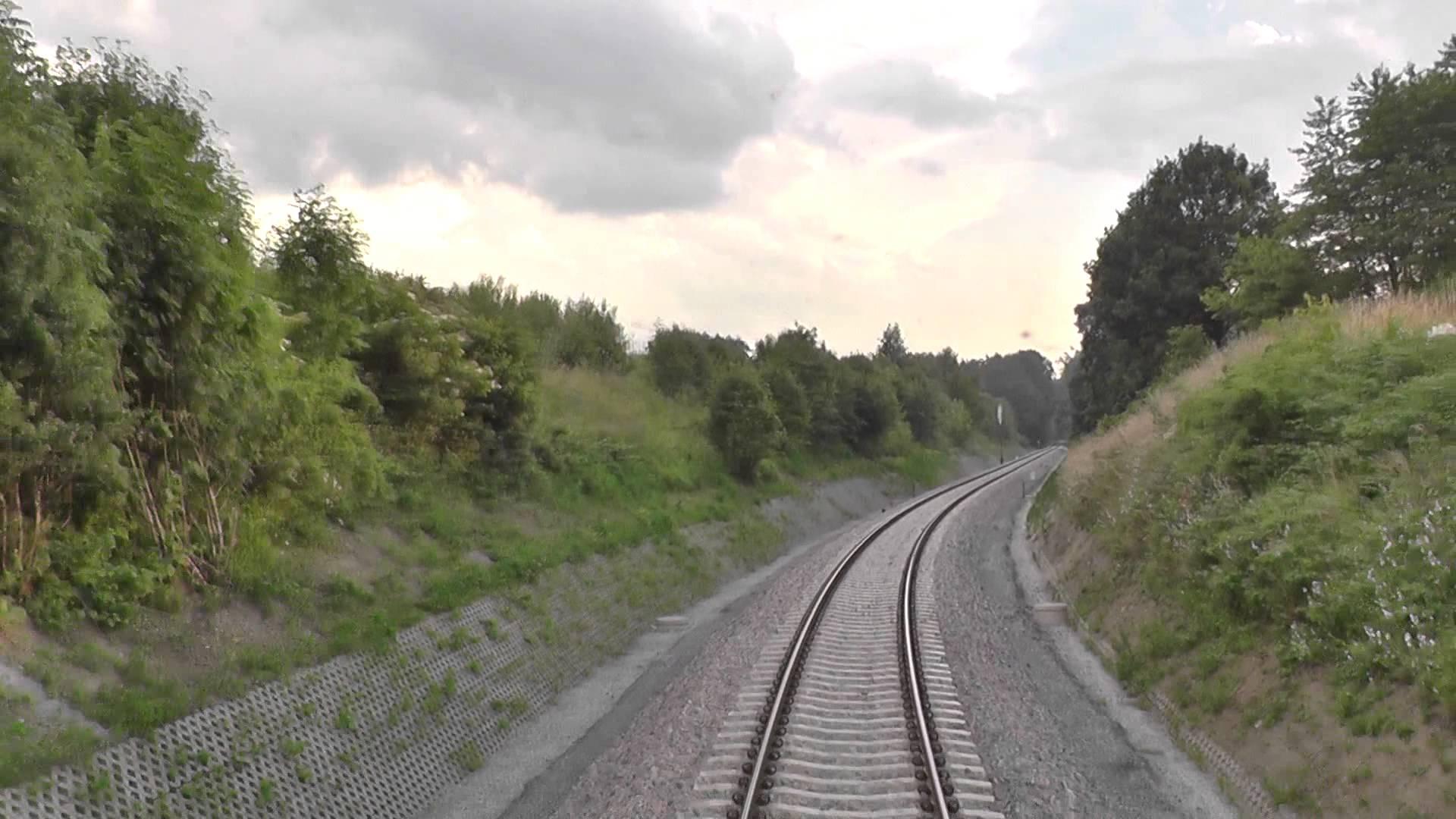 Odcinek Gdynia Główna – Władysławowo z tyłu pociągu TLK Doker