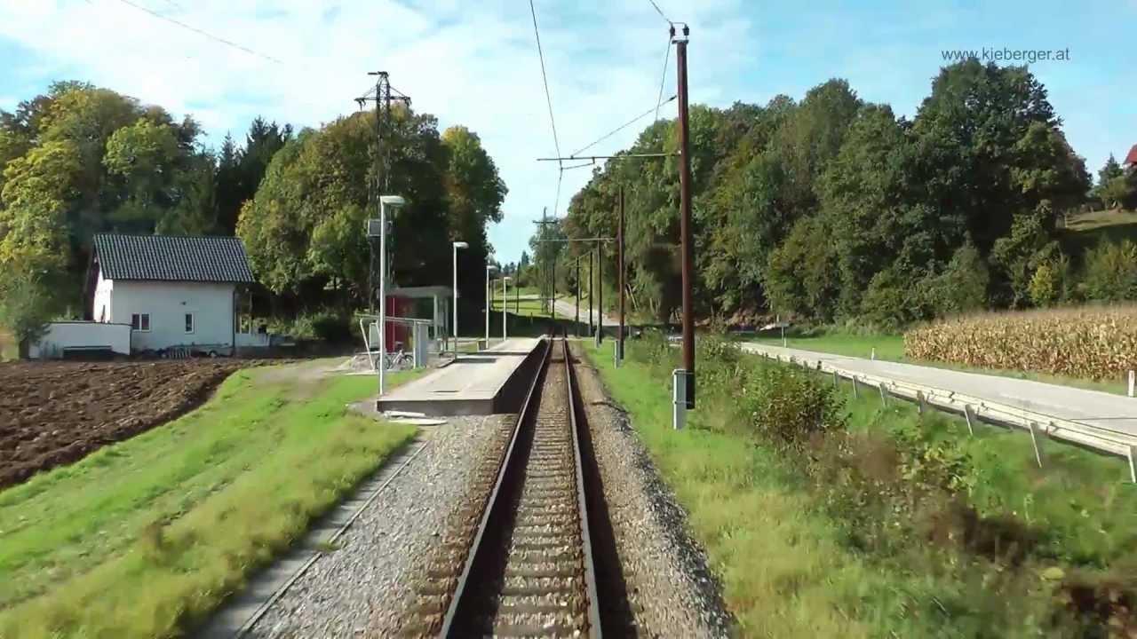 Traunseebahn – Führerstandsmitfahrt – Vorchdorf nach Gmunden Seebahnhof