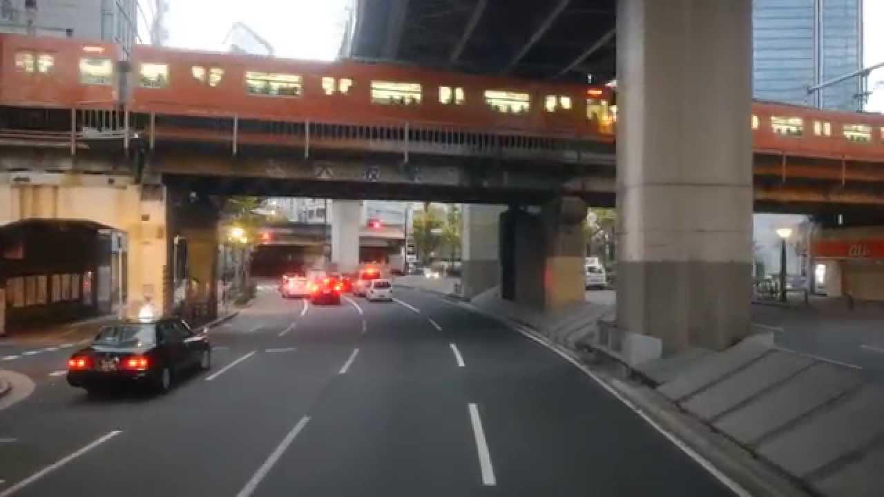 西日本JRバス 東海道昼特急302号 前面展望 大阪駅JR高速バスターミナル~甲南パーキングエリア