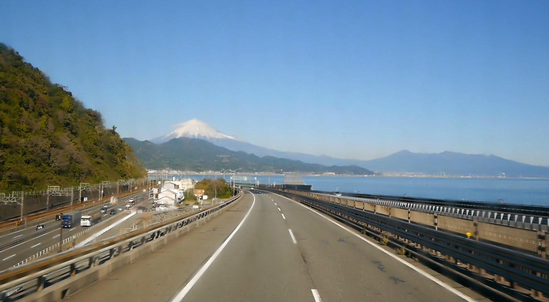 西日本JRバス 東海道昼特急302号 前面展望 浜名湖サービスエリア~足柄サービスエリア