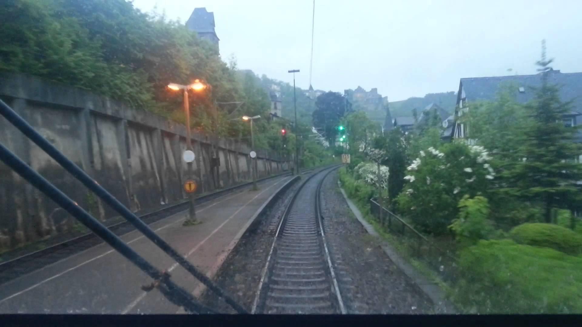 Komplett-Video Hbf Bingen – St.Goar – Boppard,Führerstandsmitfahrt,Desiro ML,BR 460,Mittelrhein