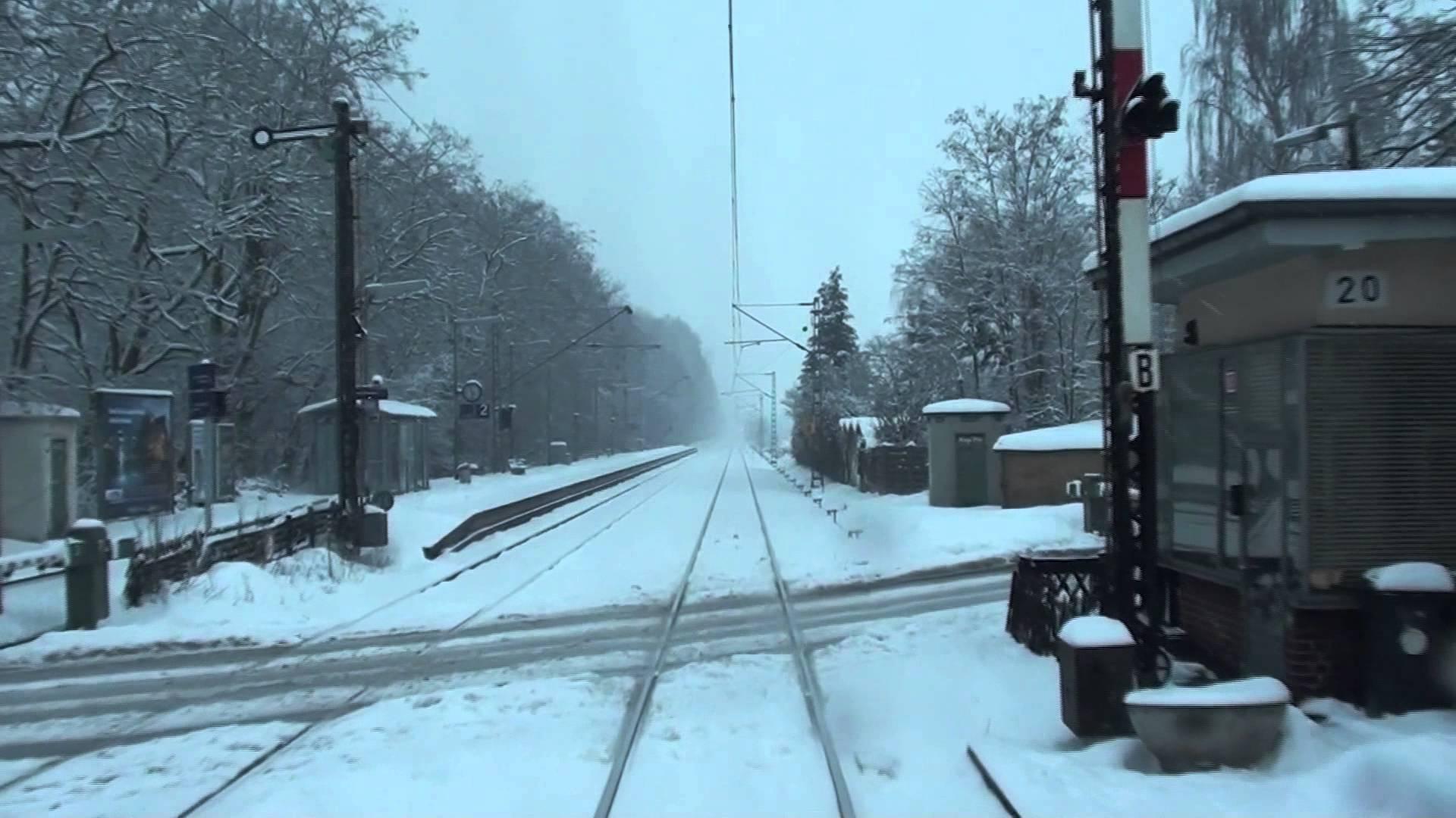S1 Wiesbaden – Frankfurt H-T im Schnee
