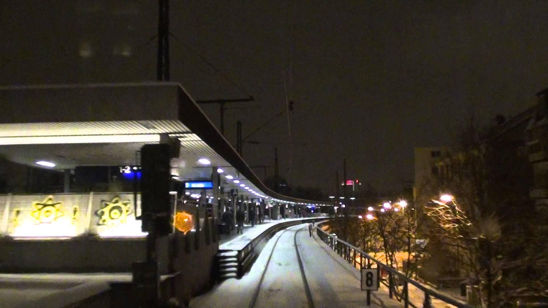 S5 Frankfurt Süd nach Friedrichsdorf bei Schneefall