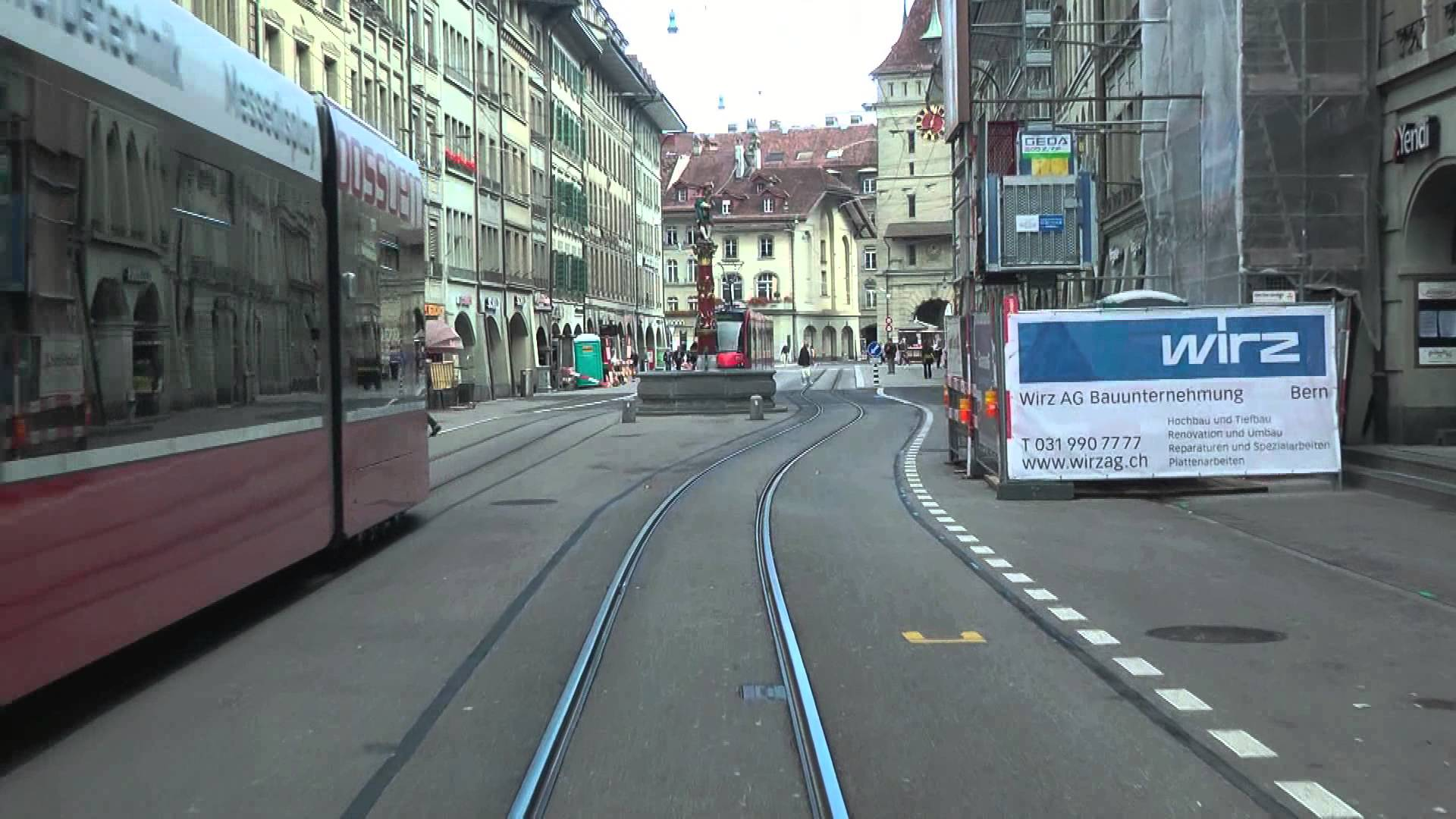 Strassenbahn Bern linia 9 – führerstandsmitfahrt
