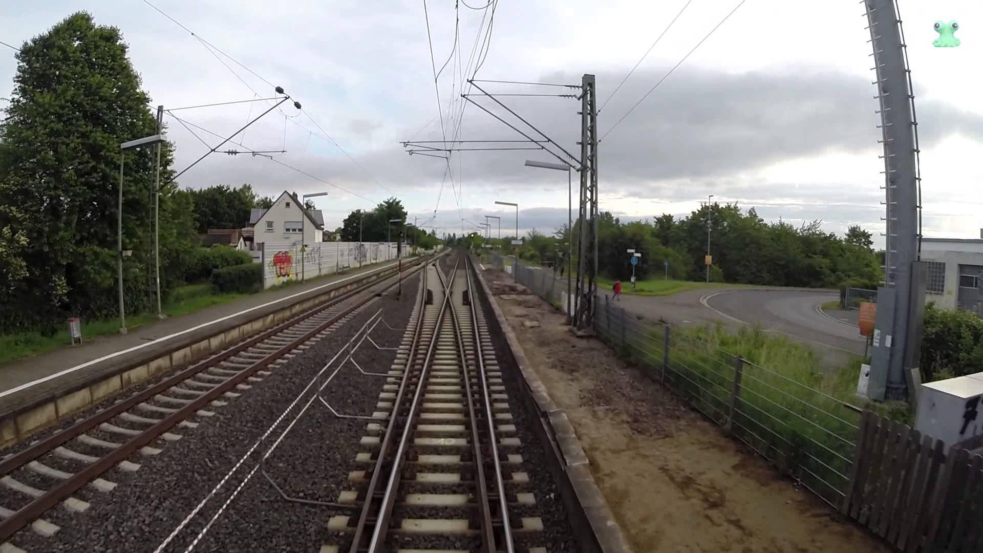 DB Bahn – Führerstandsmitfahrt Nr. 42 – Von Worms über Osthofen nach Mainz Hbf auf dem Dach – GoPro