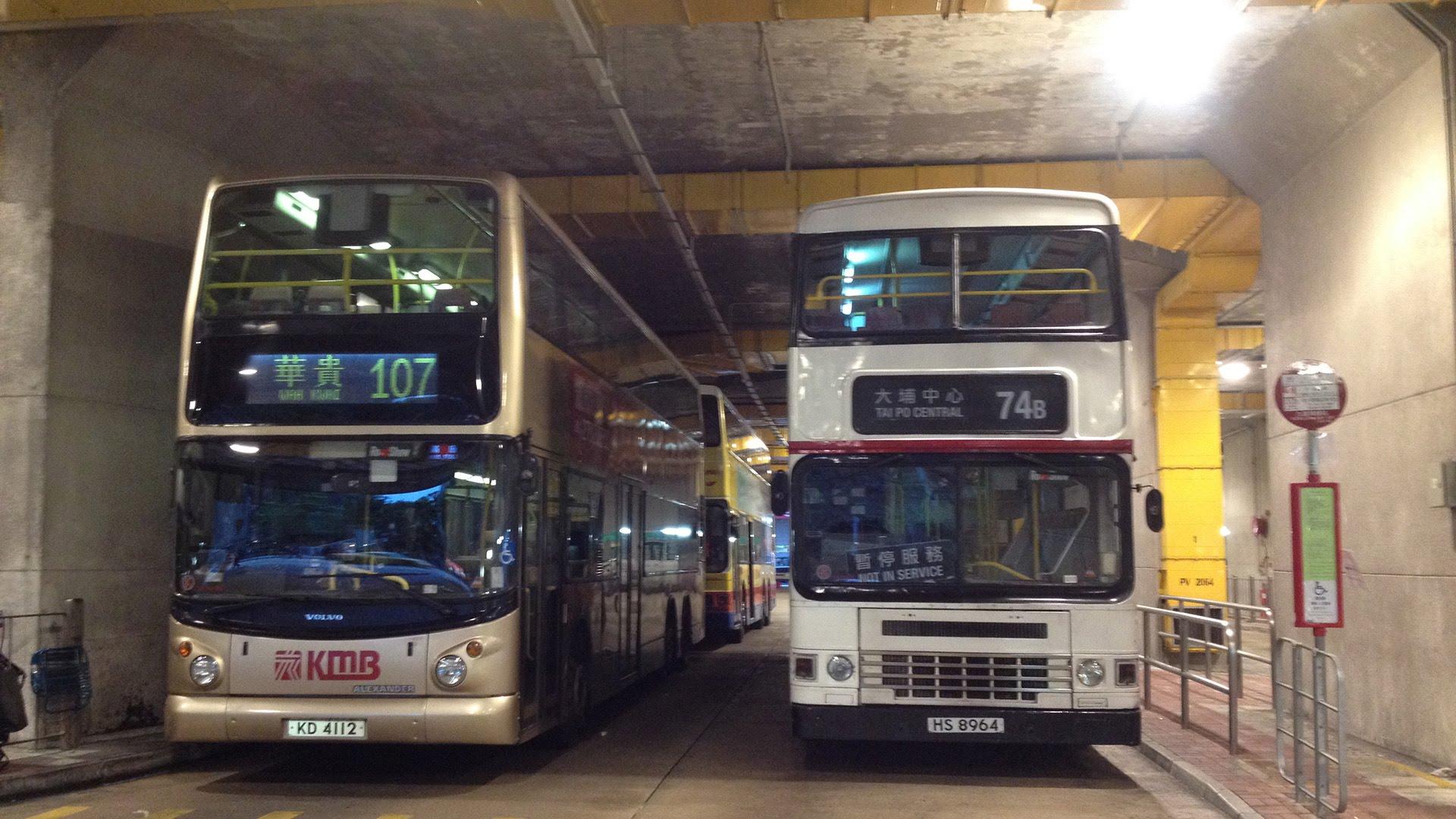 Hong Kong Bus KMB 3AD150 @ 74B 九龍巴士 Dennis Dragon 九龍灣總站-大埔中心