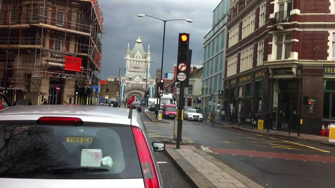 London streets (13.) – Drive from SE14 – Tower bridge – E14