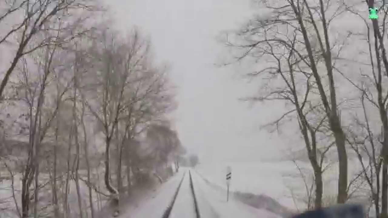 DB Bahn – Führerstandsmitfahrt Nr. 50 – Von Kaiserslautern Hbf nach Bad Münster am Stein im Schnee