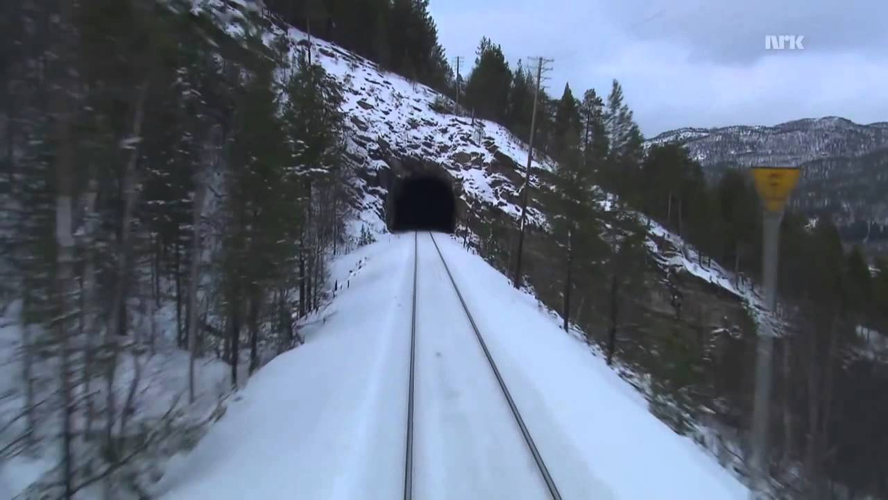 Cab Ride on Nordland line railway winter