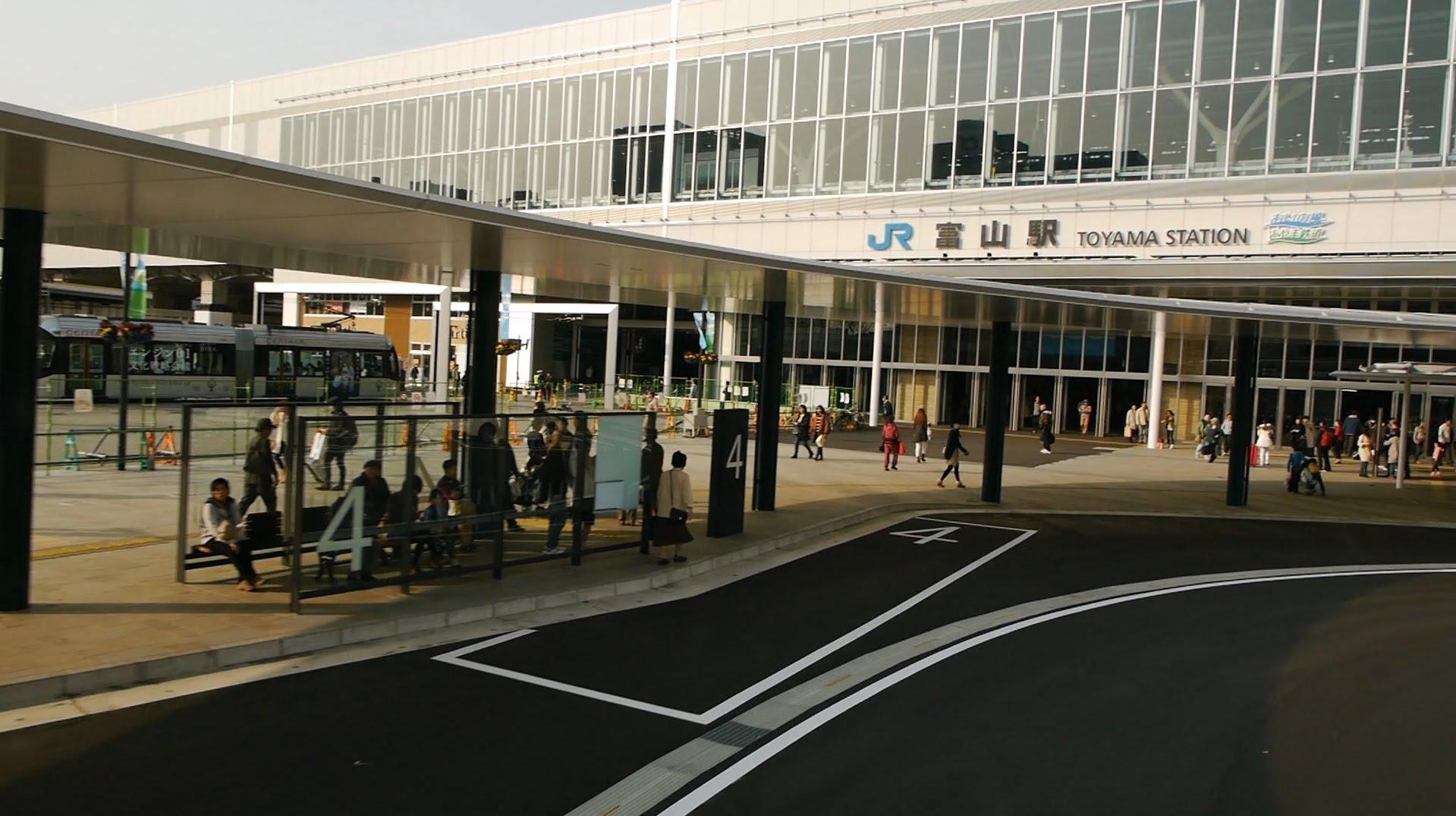 西日本JRバス 北陸道昼特急大阪3号 前面展望 金沢駅東口~富山駅南口(新ターミナル)
