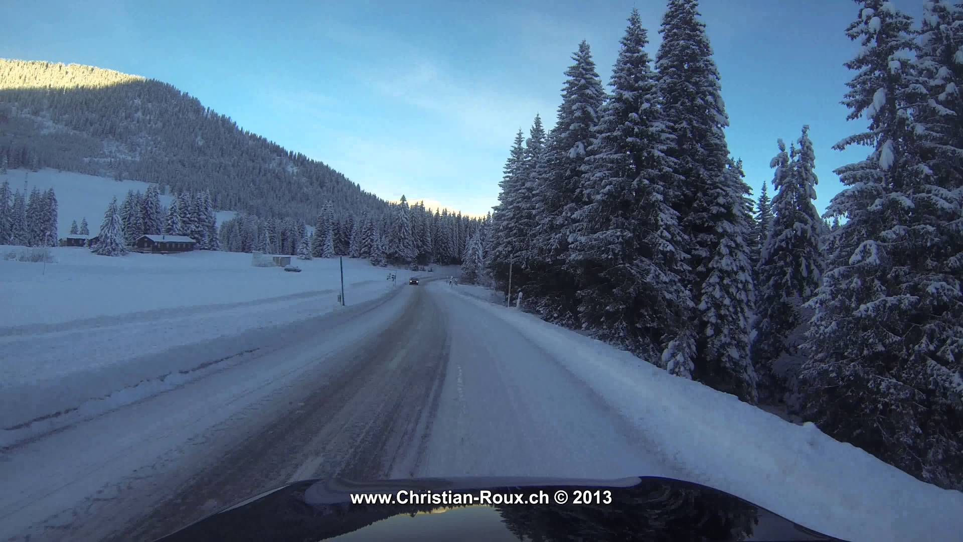 UHD/4K ☼ Switzerland 259 (Camera on board): Col des Mosses in Winter (GoPro Hero3)