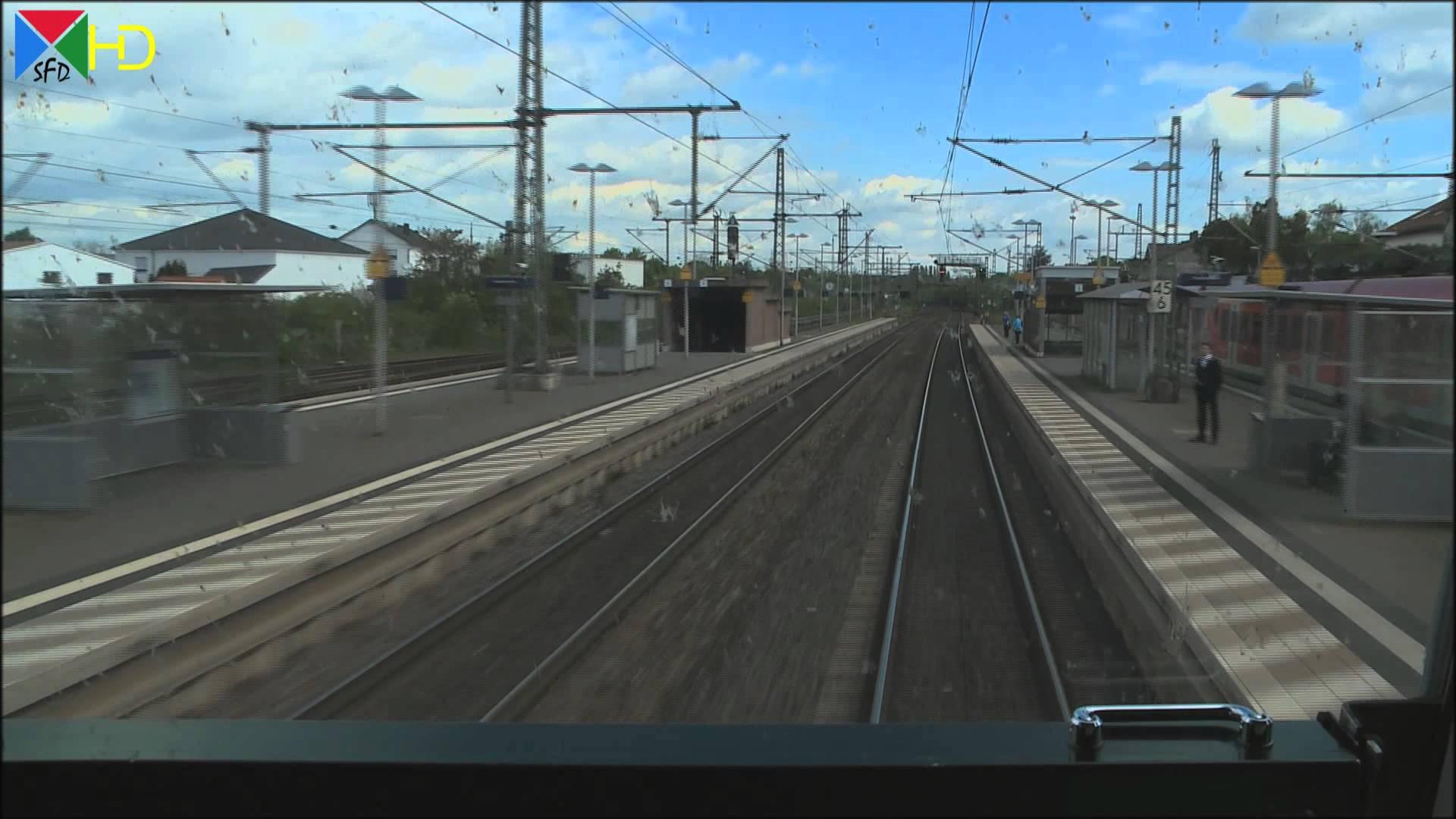 Führerstandsmitfahrt auf der RE 70 Riedbahn von Mannheim nach Frankfurt am Main nach Mannheim [HD]