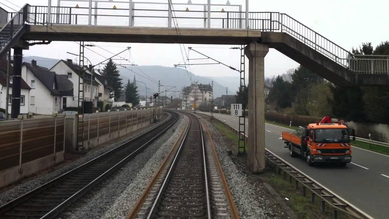 HD720cam: Führerstandsmitfahrt Bingen am Rhein – Koblenz
