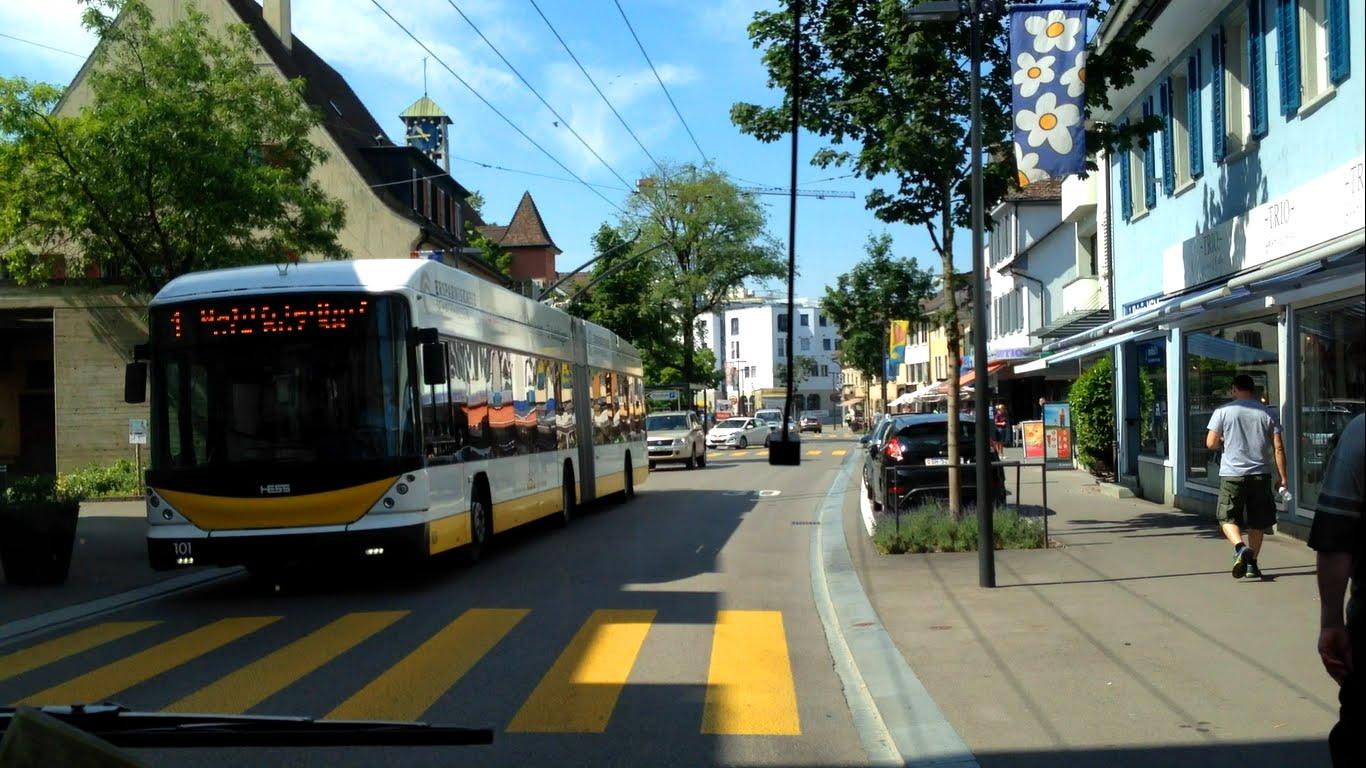 VBSH Schaffhausen Trolleybus | Linie 1: Waldfriedhof – Bahnhof – Herbstäcker