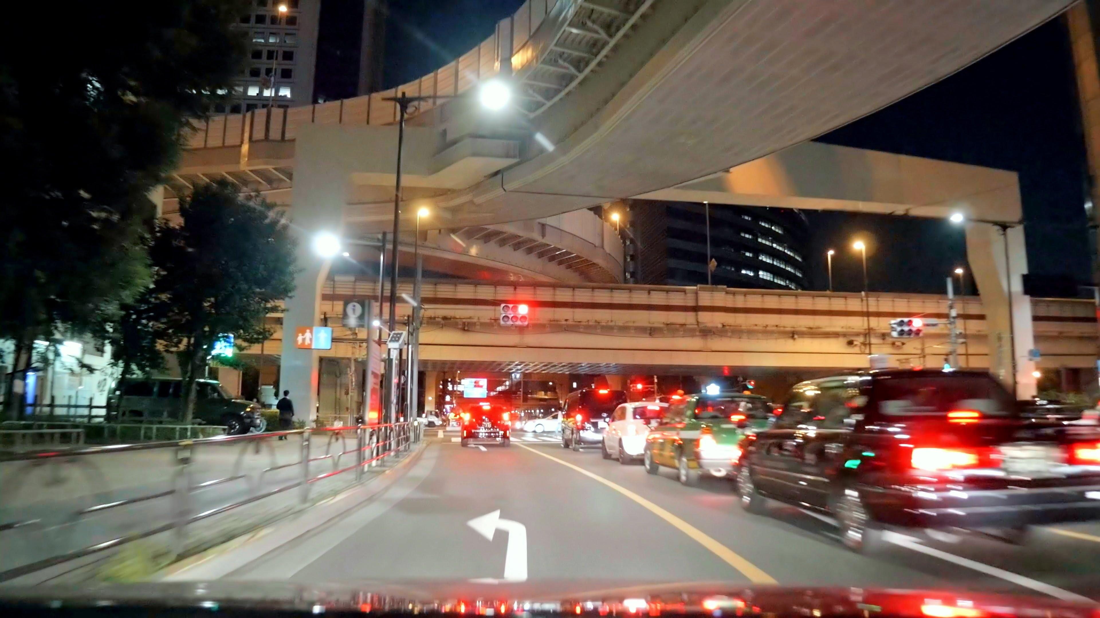 国道20号 甲州街道 下り 初台 – 調布 夜間 [車載動画 2015/10]