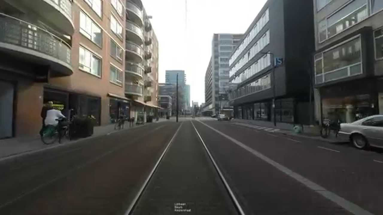 Cabinerit RET tram 24 Omleiding Kruisplein