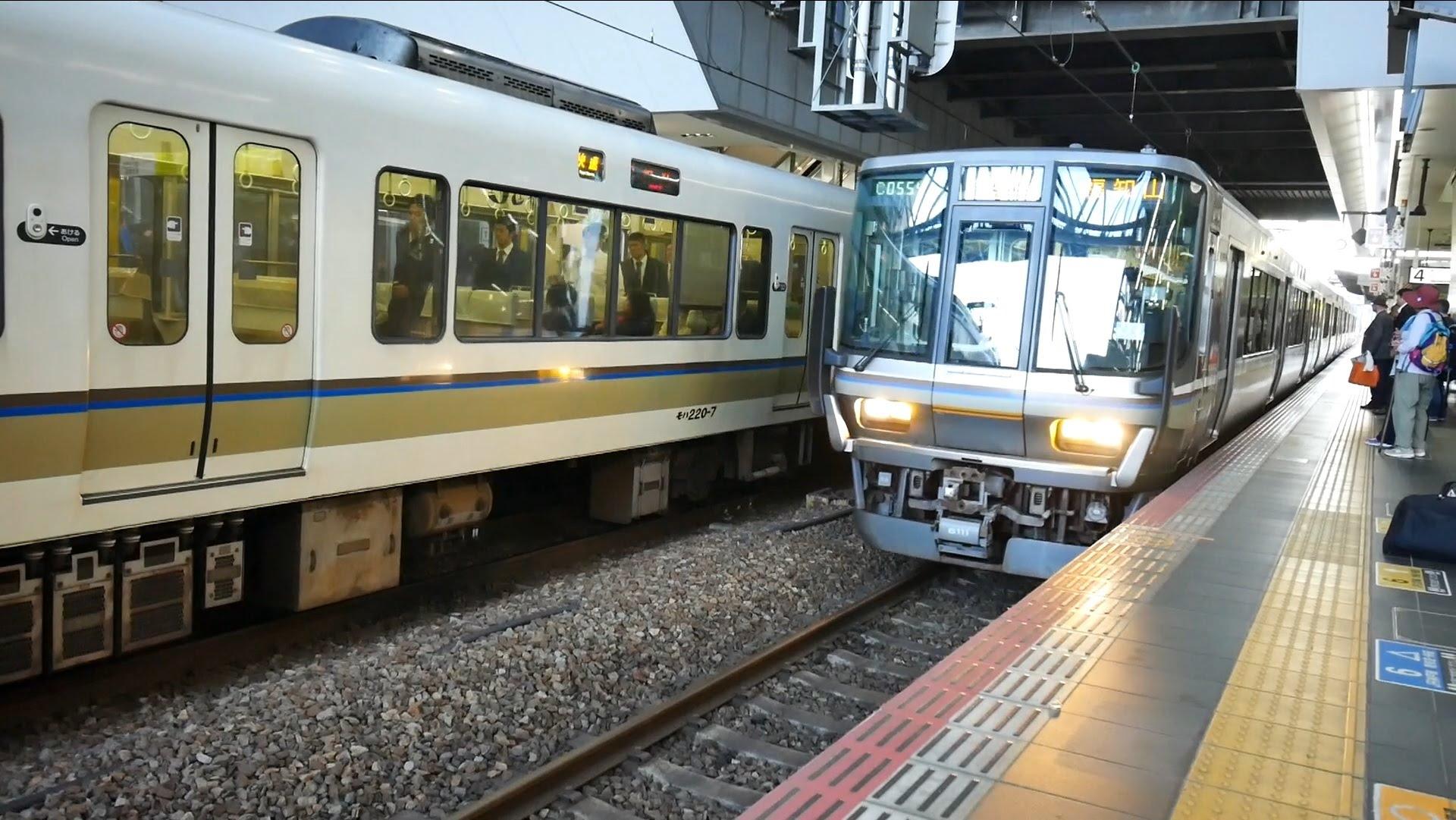 JR西日本 丹波路快速 (223系6000番台運行) 超広角車窓 進行右側 大阪~福知山 (Panasonic DMC-G7 撮影テスト)