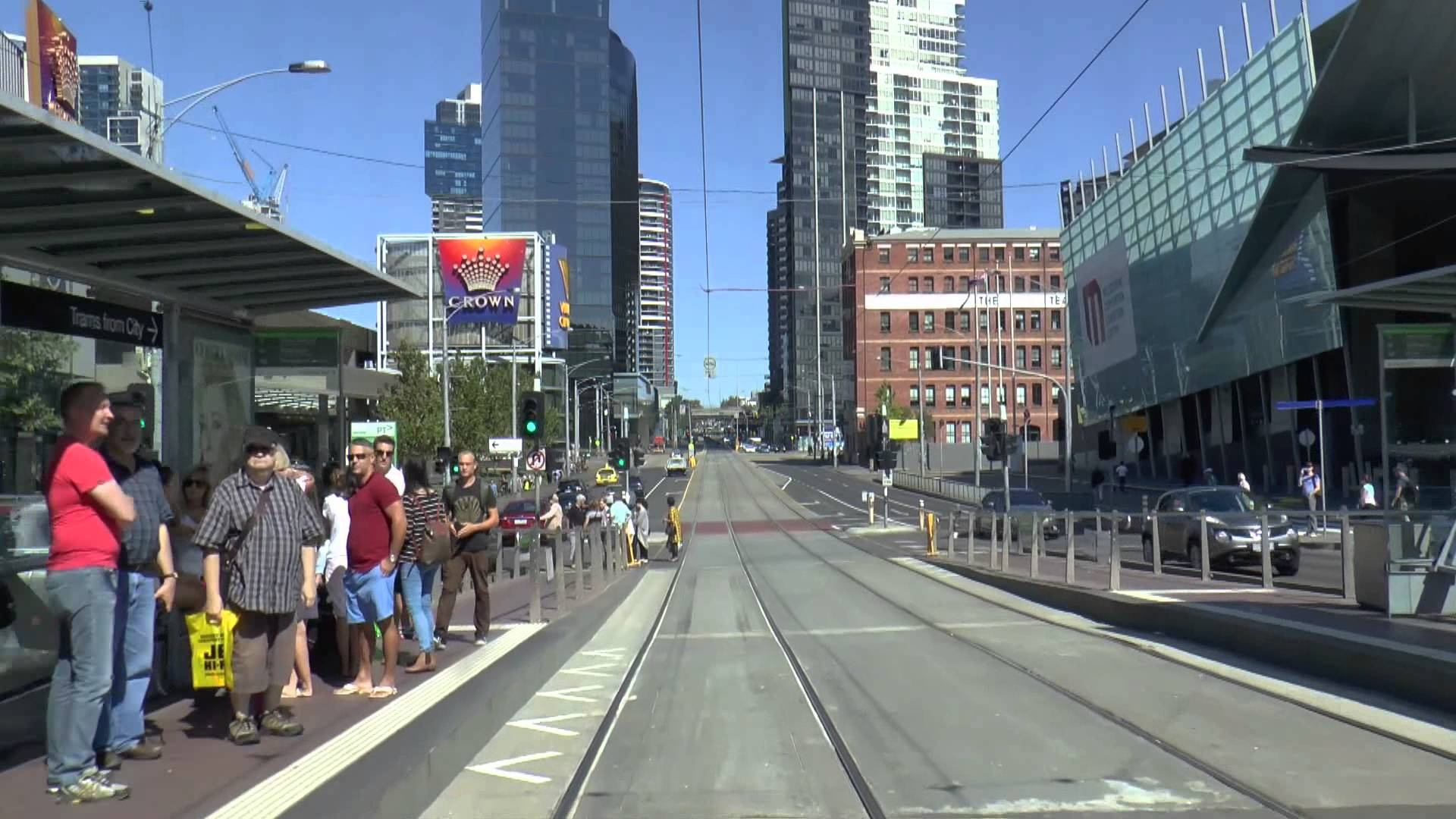 Melbourne Trams – A typical Sunday on Route 96 March 2015 Tram Drivers View