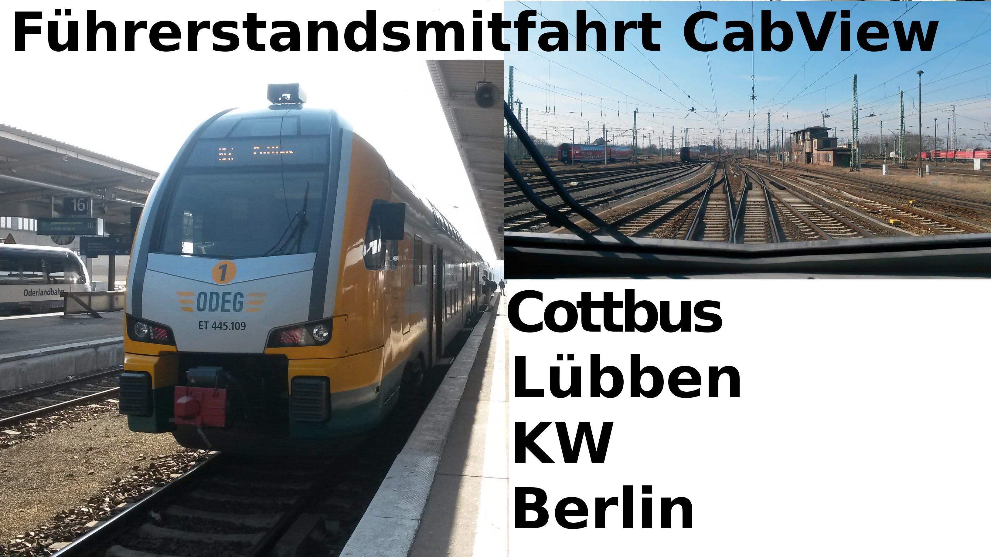 Führerstandsmitfahrt / CabView: RE2 – Cottbus – Lübben – Königs Wusterhausen – Berlin