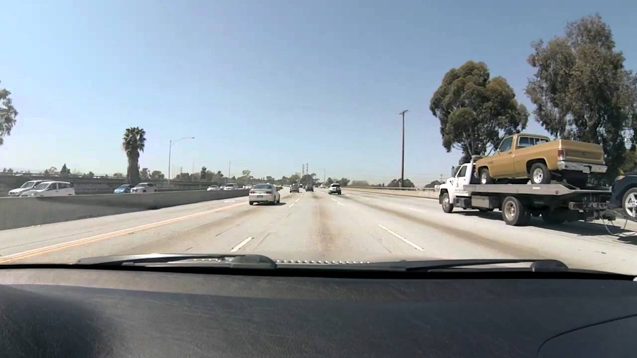 Driving from San Diego to Los Angeles Interstate 5 and Interstate 405
