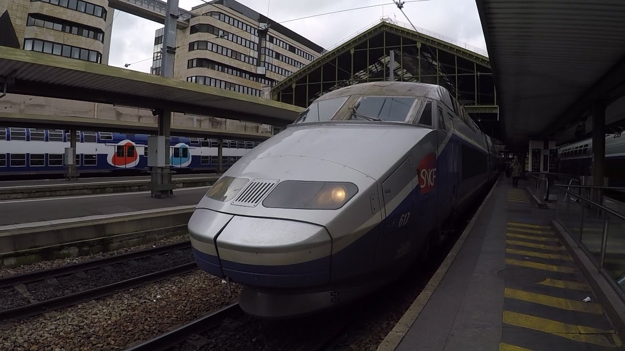 High-speed train TGV cab. LGV Paris Gare de Lyon/Aix TGV