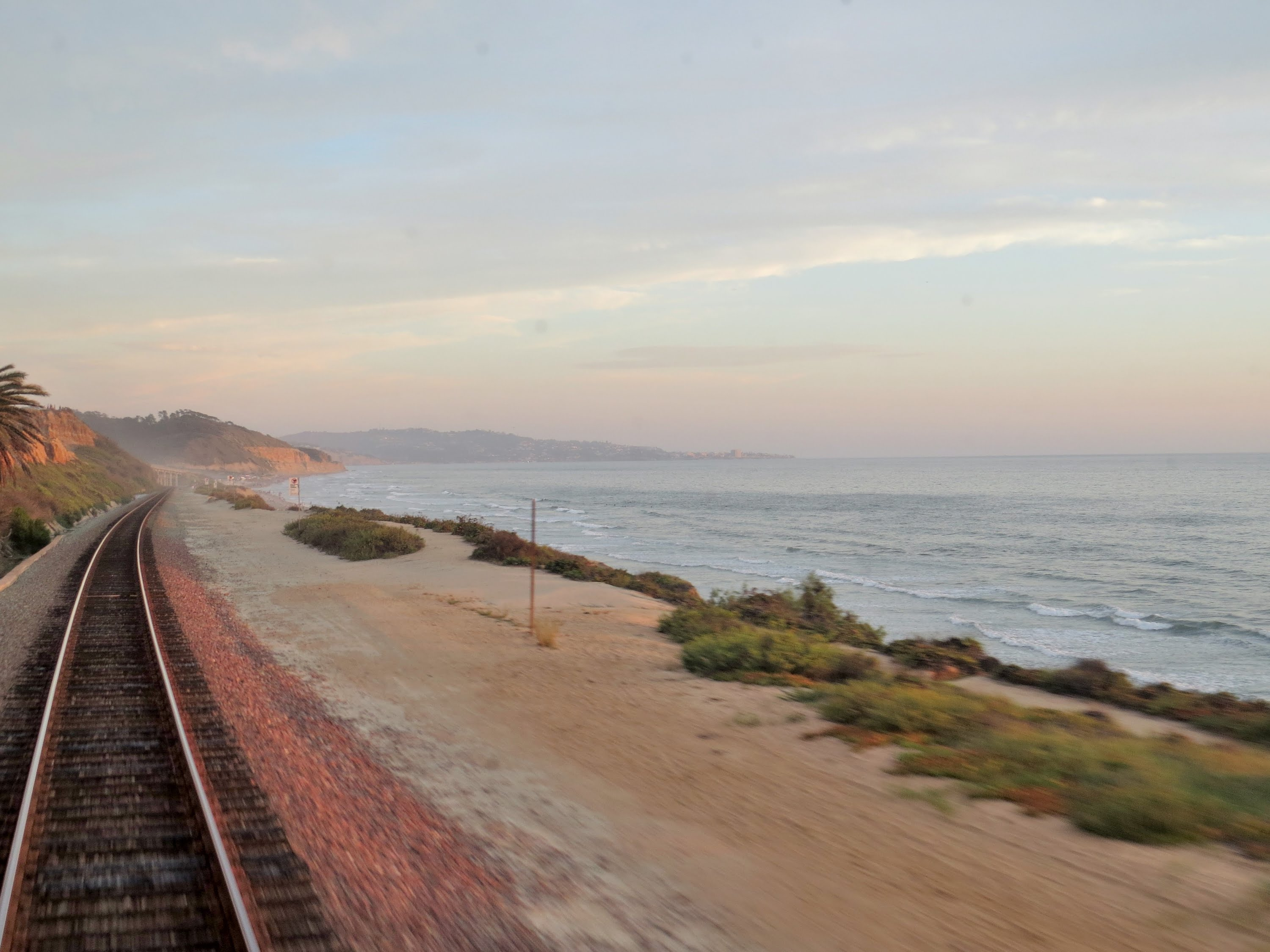 "Vintage Private Railcar Ride on the Surfline – A Backwards ""Cab Ride"" along the Ocean"