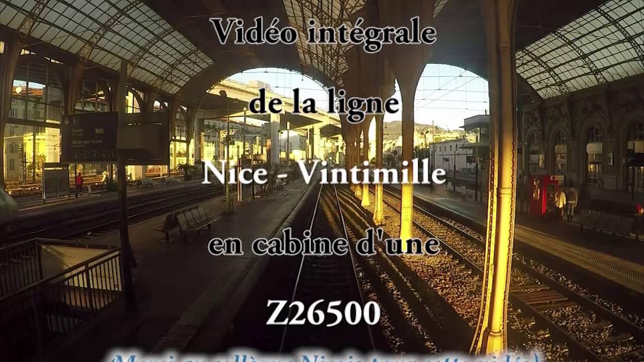 En cabine d'un TER entre Nice Monaco Menton Vintimille