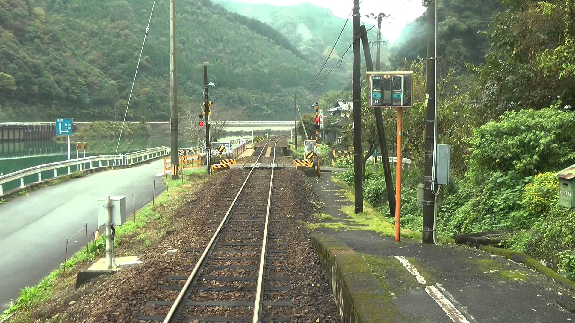 【前面展望】 JR九州 肥薩線 八代→人吉 球磨川に沿って