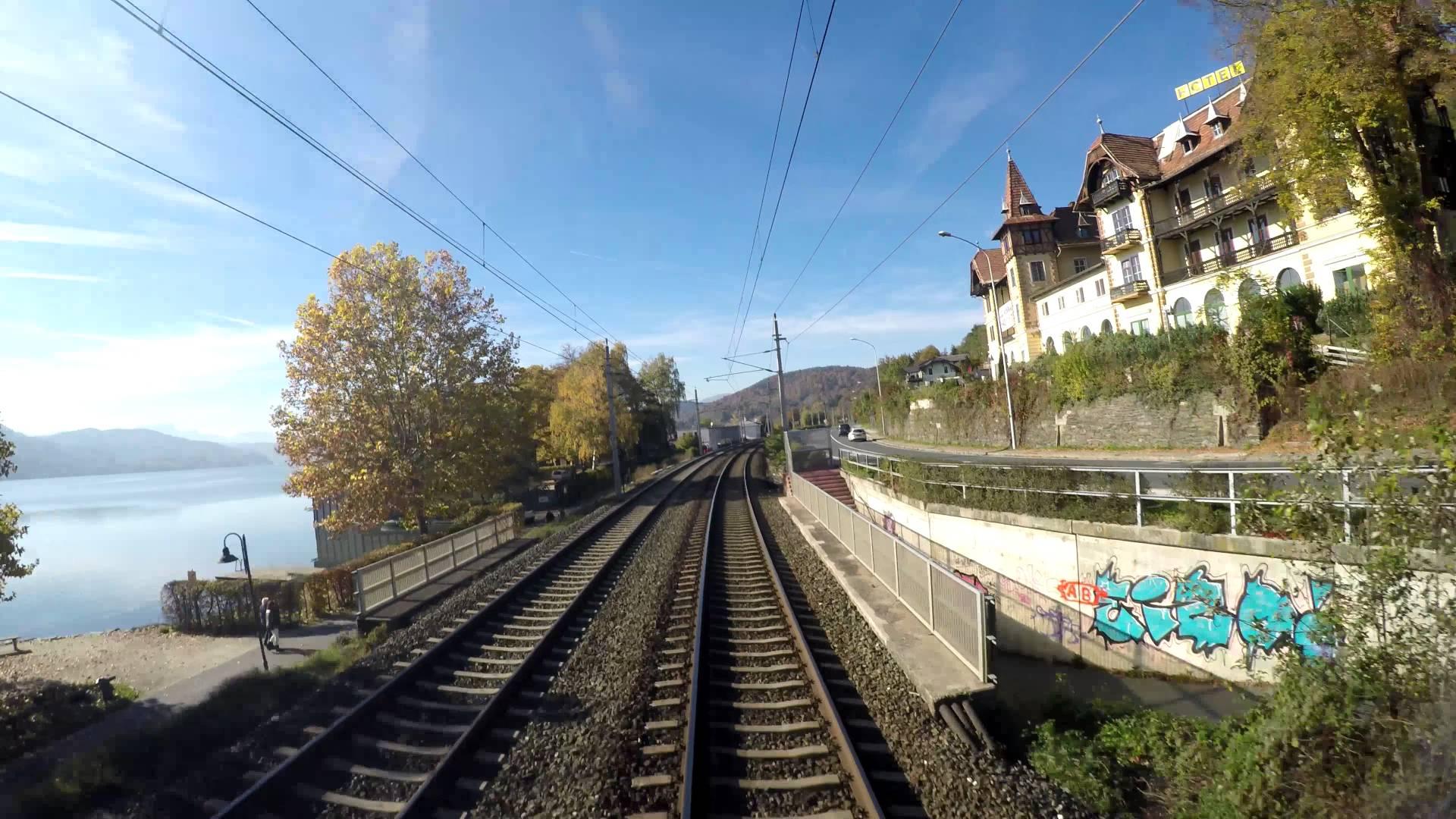 4k Führerstandsmitfahrt / cabride Klagenfurt – Villach (Wörthersee) mit BR 185
