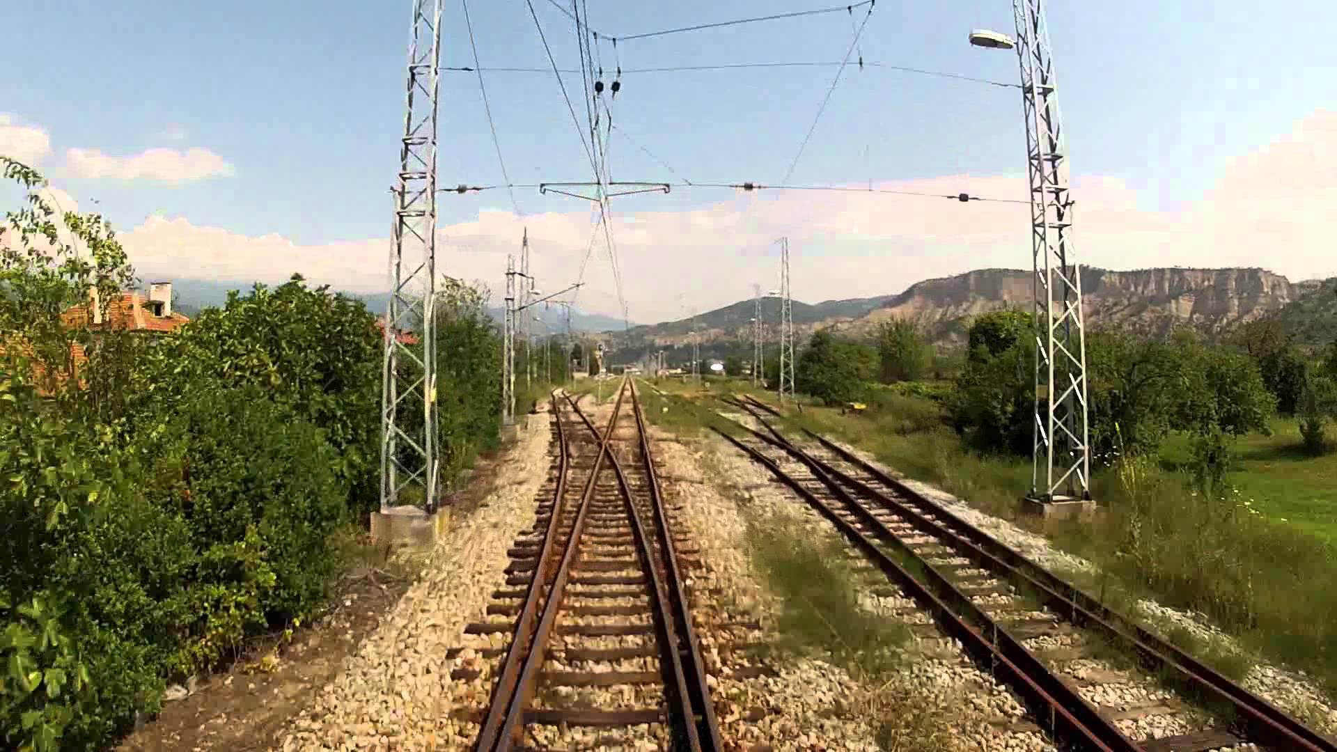 Driver's view of Struma railway Kulata – Blagoevgrad, incl. Kresna gorge