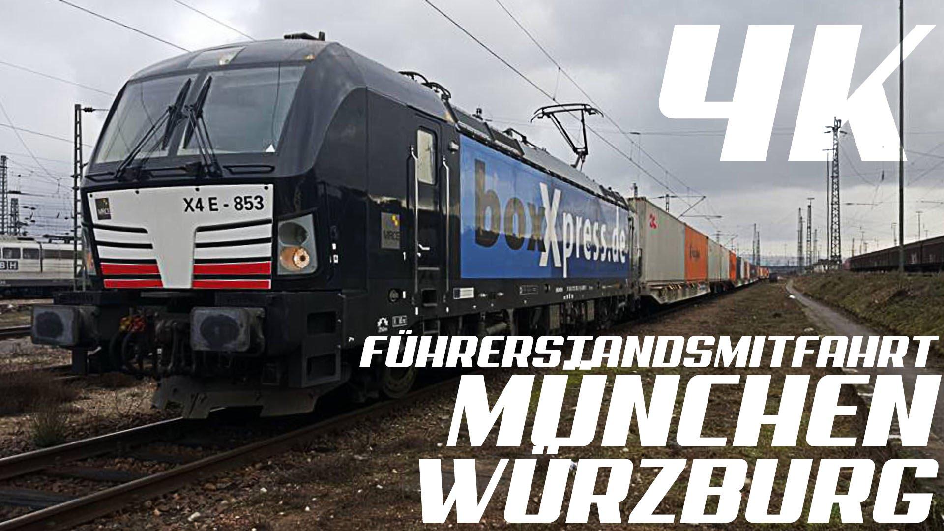 GoPro, Führerstandsmitfahrt München – Würzburg, 4K, Teil 1