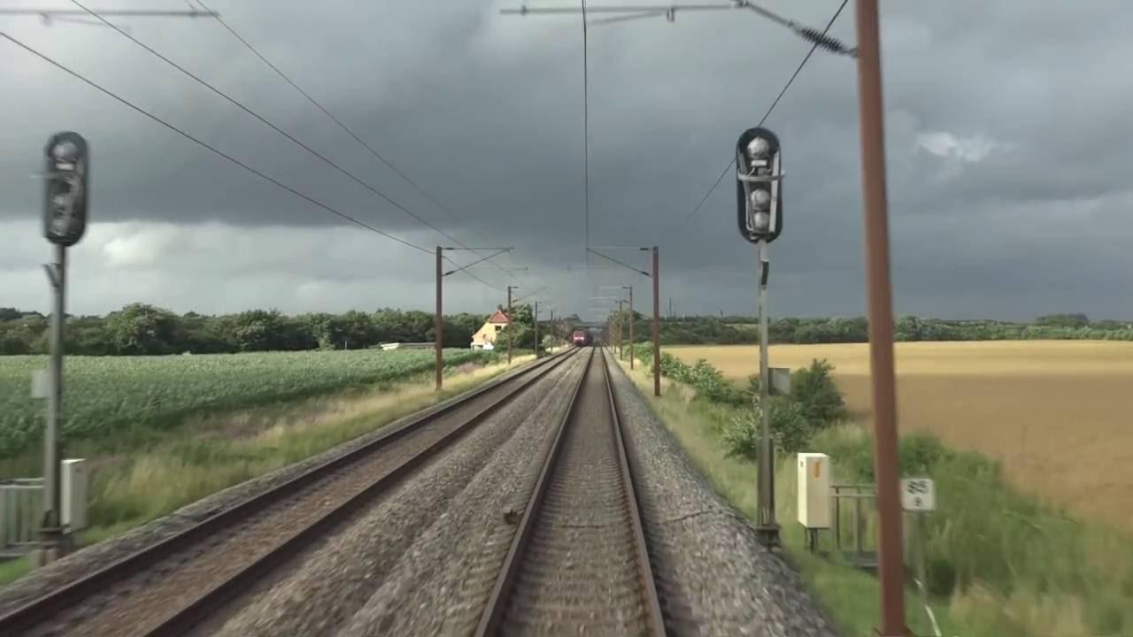 Führerstandsmitfahrt Dänemark : Tinglev nach Fredericia mit IC962