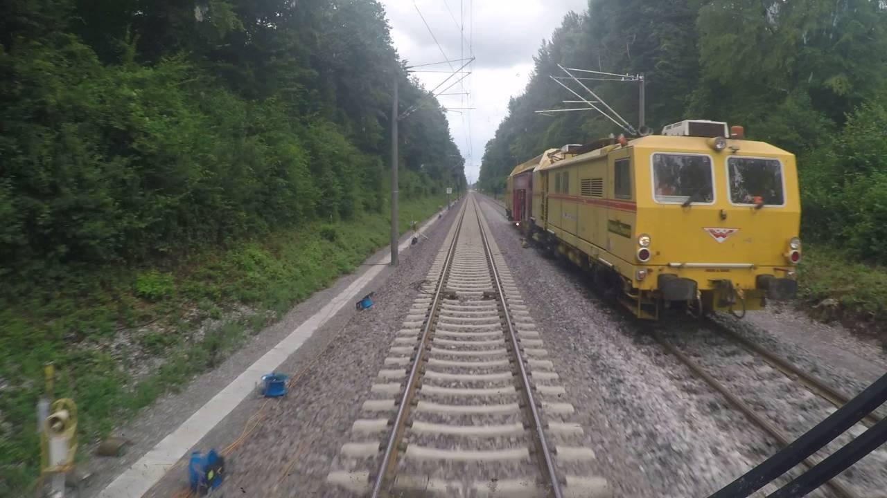Führerstandsmitfahrt im Seehas von Singen nach Radolfzell im Gleiswechselbetrieb