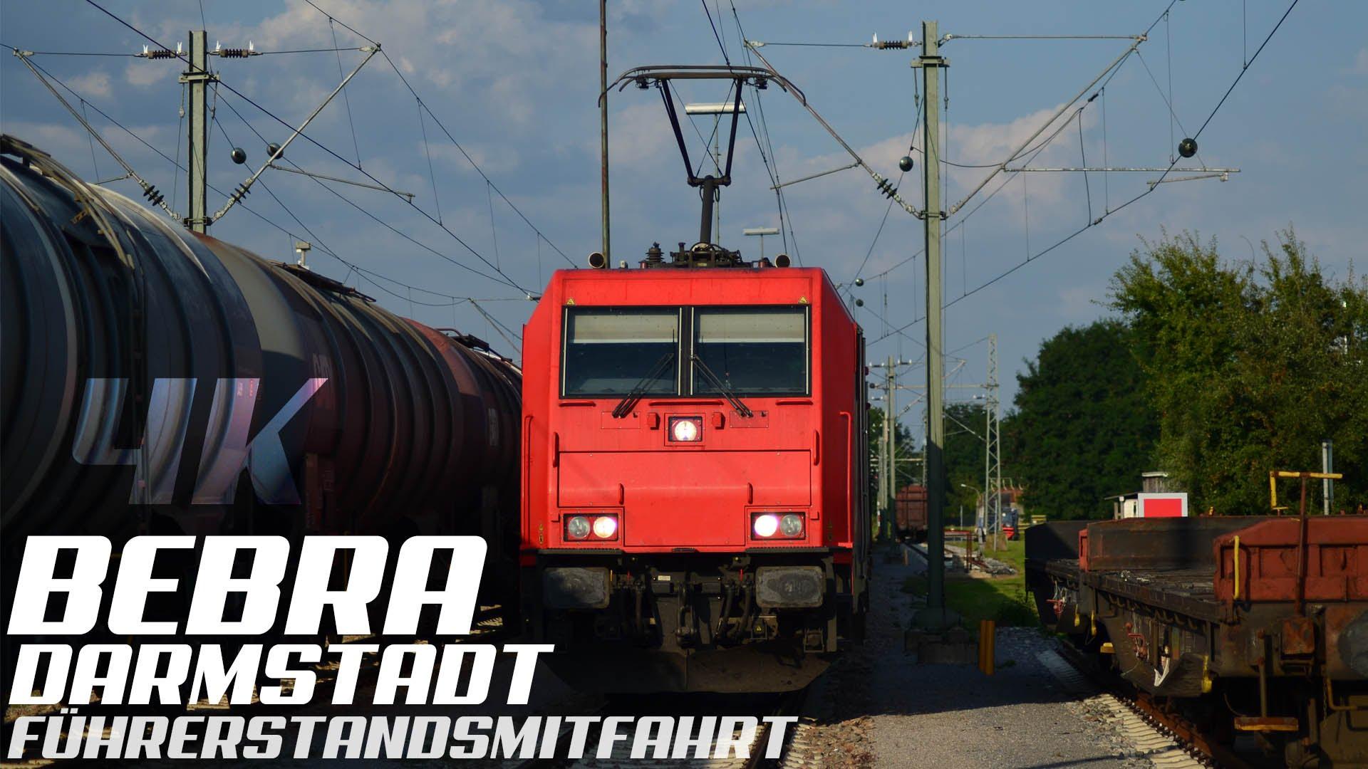 Führerstandsmitfahrt Darmstadt – Bebra, 4K, Teil 1, GoPro