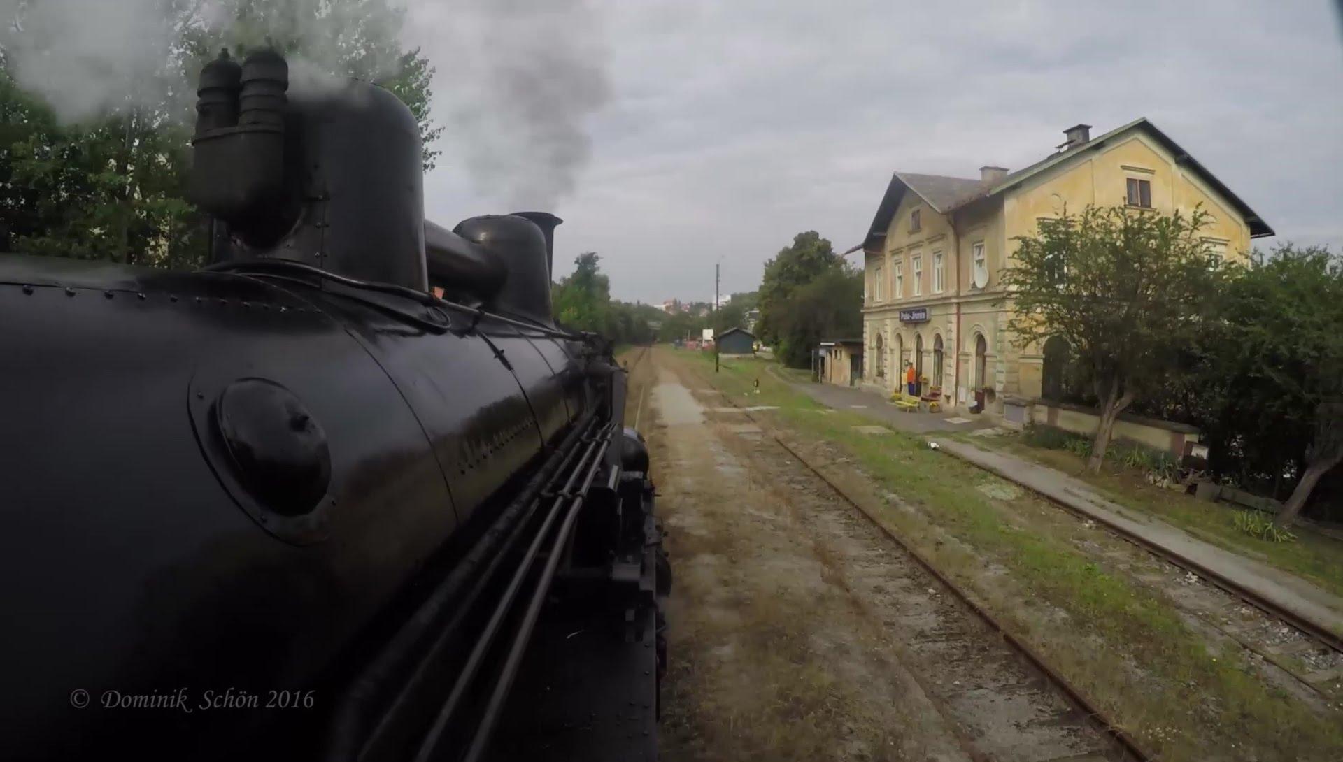 Subjektivní pohled strojvedoucího parní lokomotivy 434.2186 na trať Praha Vršovice – Hostivice