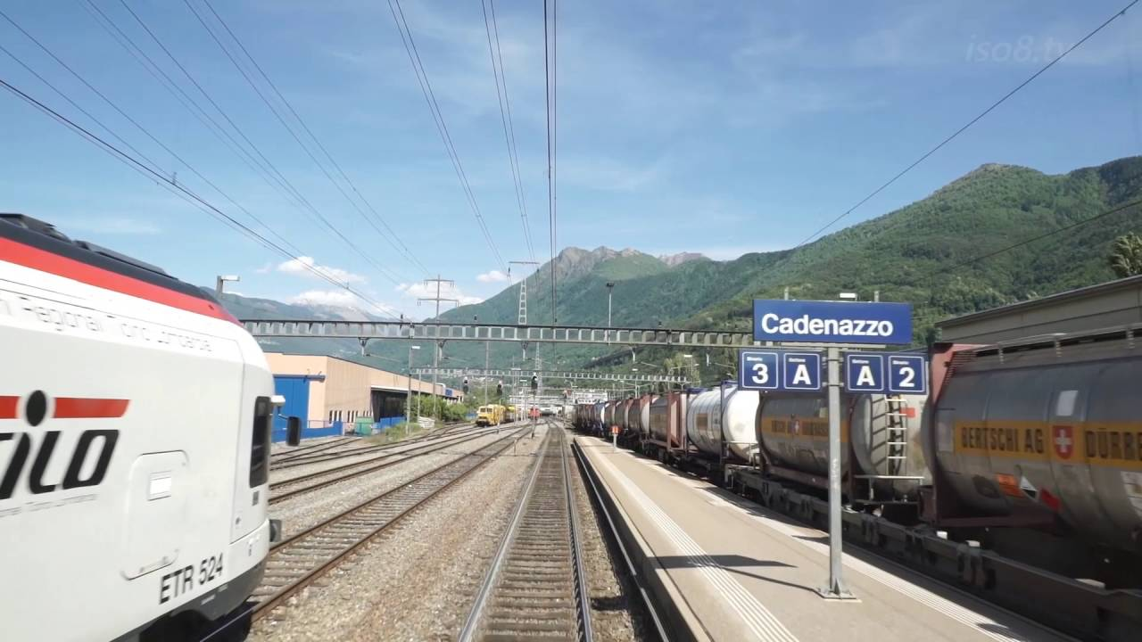 [FHD60p] CabView : SBB Re4/4 climbing Gotthard-pass , Switzerland